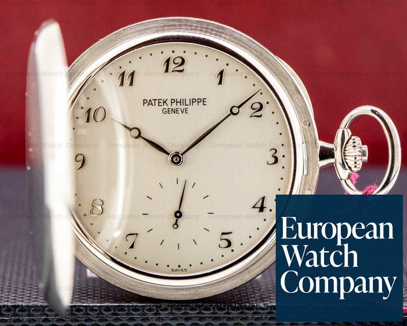 Patek Philippe 980G-010 White Gold Hunter Pocket Watch 48MM