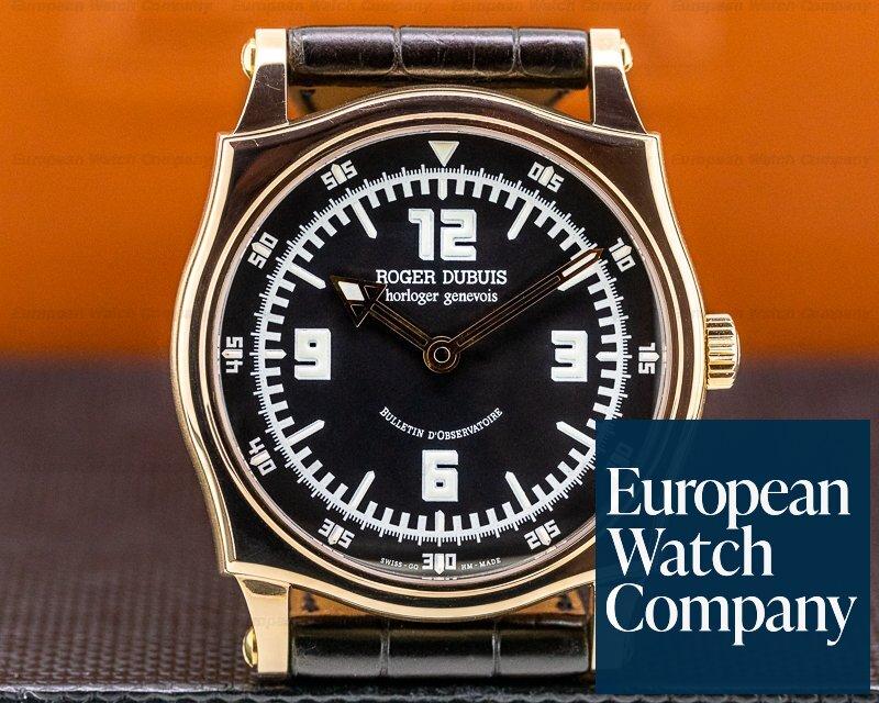 Roger Dubuis S40.5759.8 Sympathie S40 18K Rose Gold Black Dial RARE