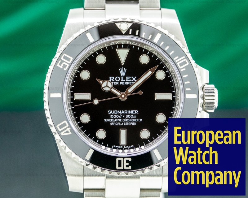 Rolex 114060 Submariner 114060 No Date Ceramic Bezel SS 2020