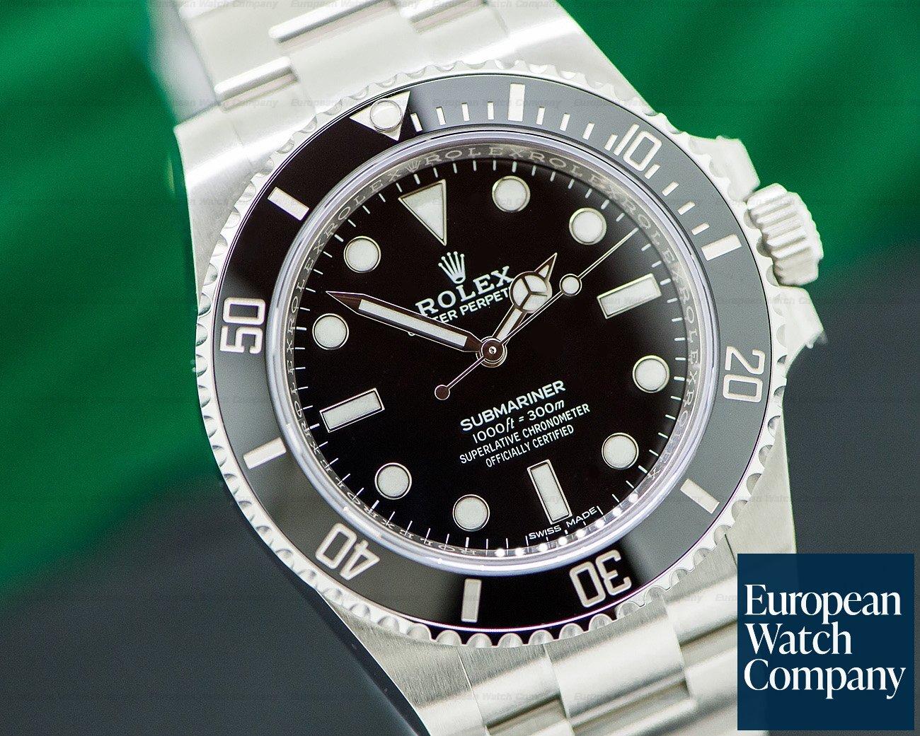 Rolex 114060 Submariner No Date Ceramic Bezel SS UNWORN & STICKERED