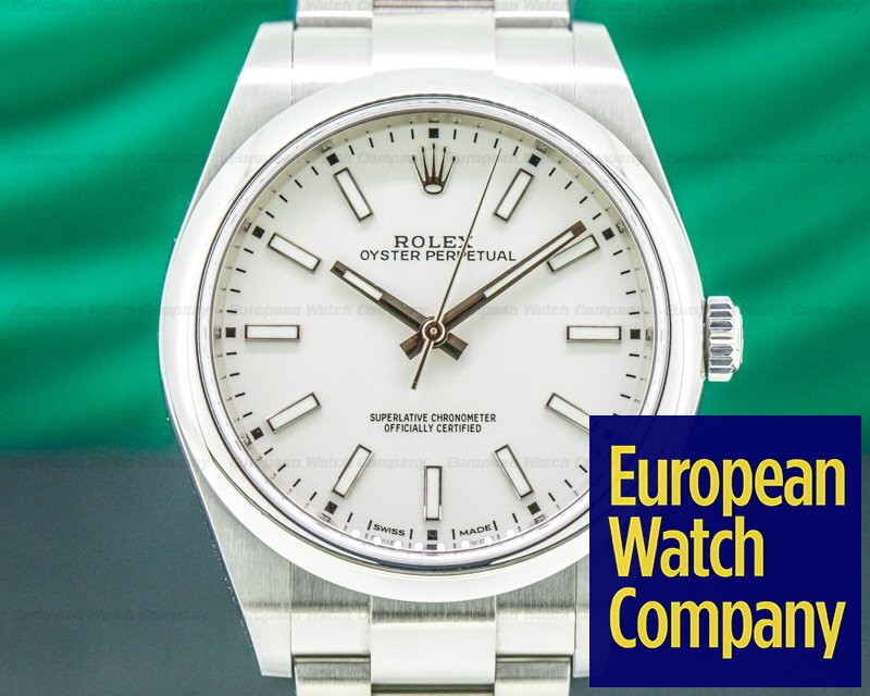 Rolex 114300 Oyster Perpetual 114300 SS White Stick Dial