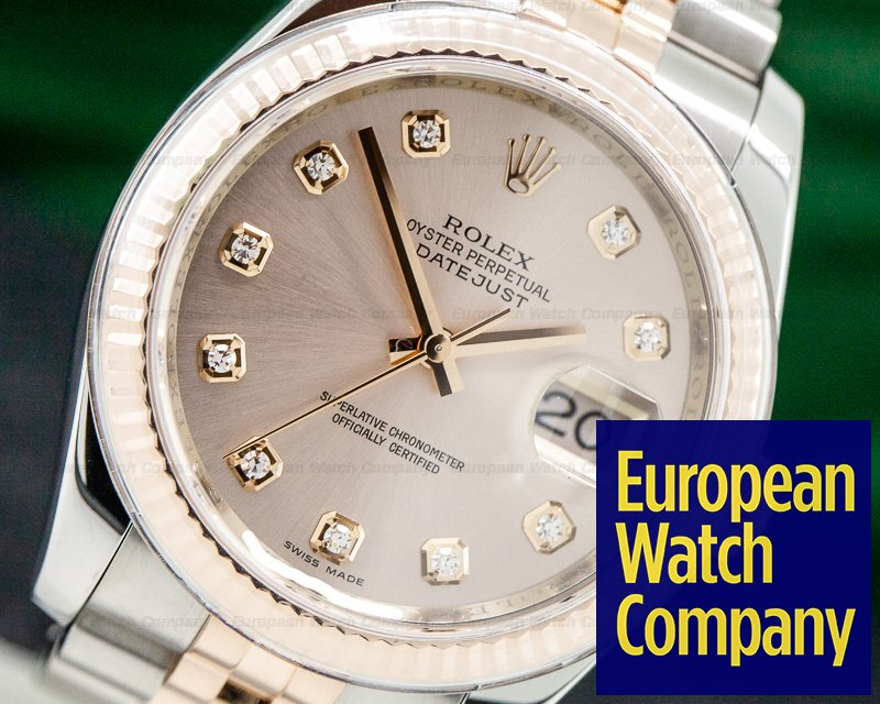 Rolex 116231 Datejust SS / Everrose Gold Jubilee Diamond Dial