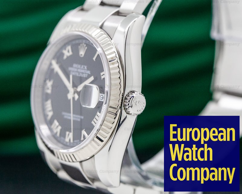Rolex 116234 Datejust Black Roman Dial SS 36MM