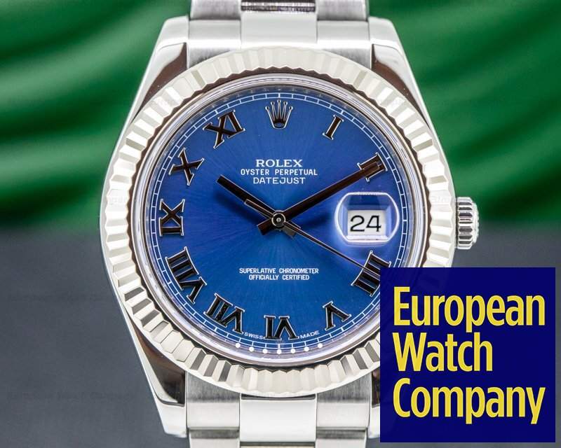 Rolex 116334 Datejust 116334 II Blue Dial Romans SS
