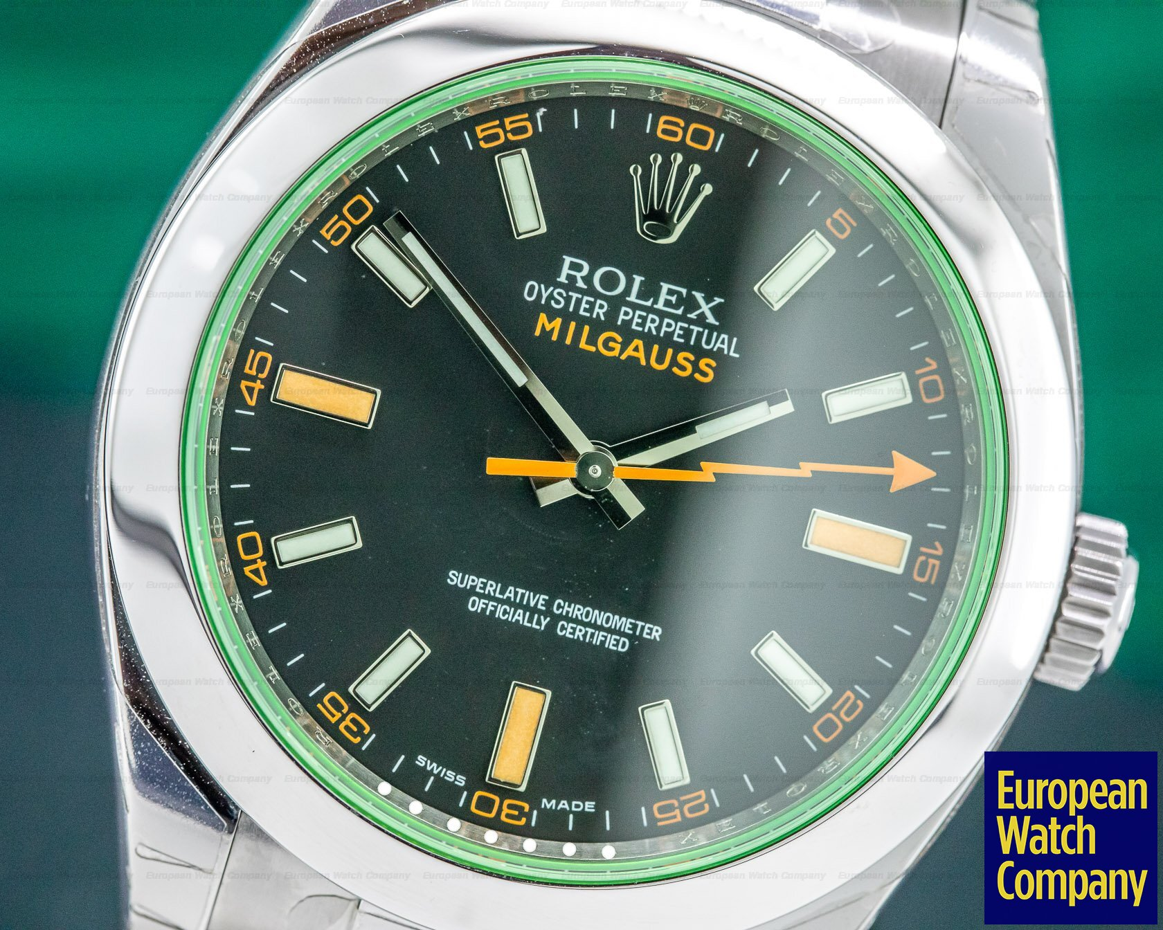 Rolex 116400V Milgauss SS Black Dial Green Crystal UNWORN & STICKERED