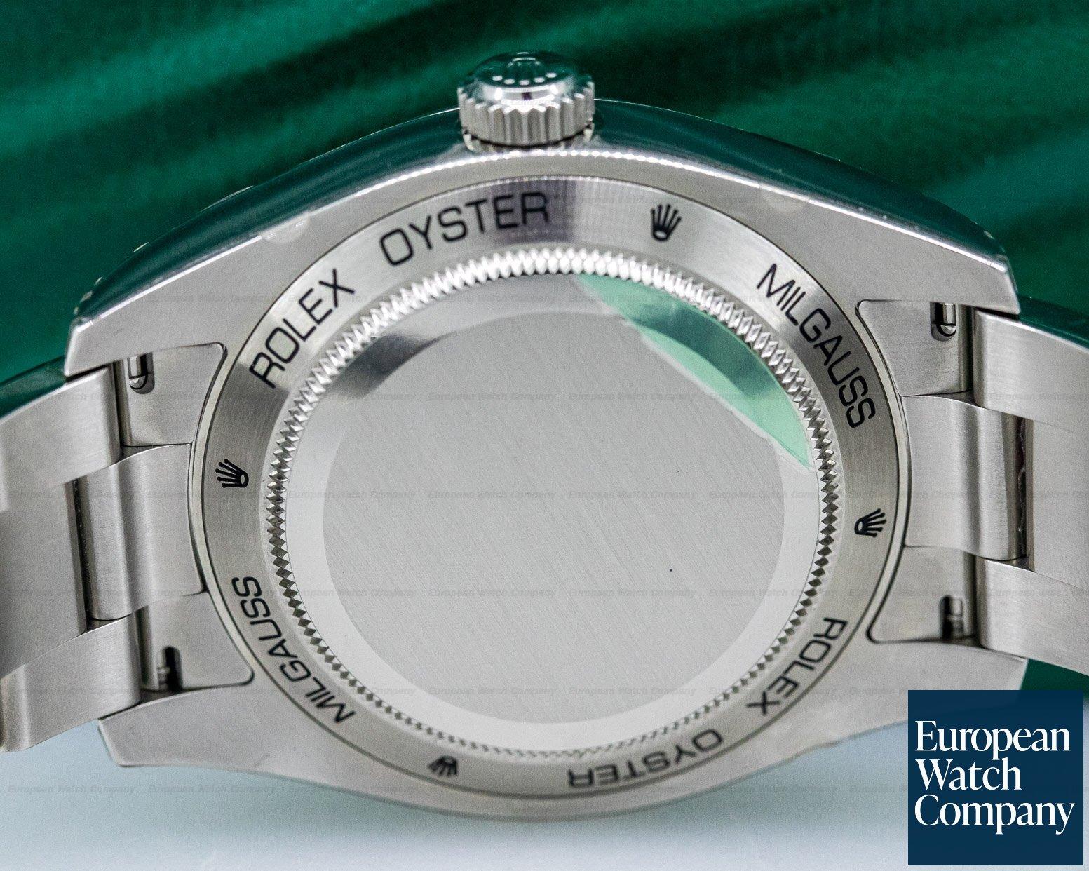 Rolex 116400V Milgauss SS Black Dial Green Crystal UNWORN & STICKERED