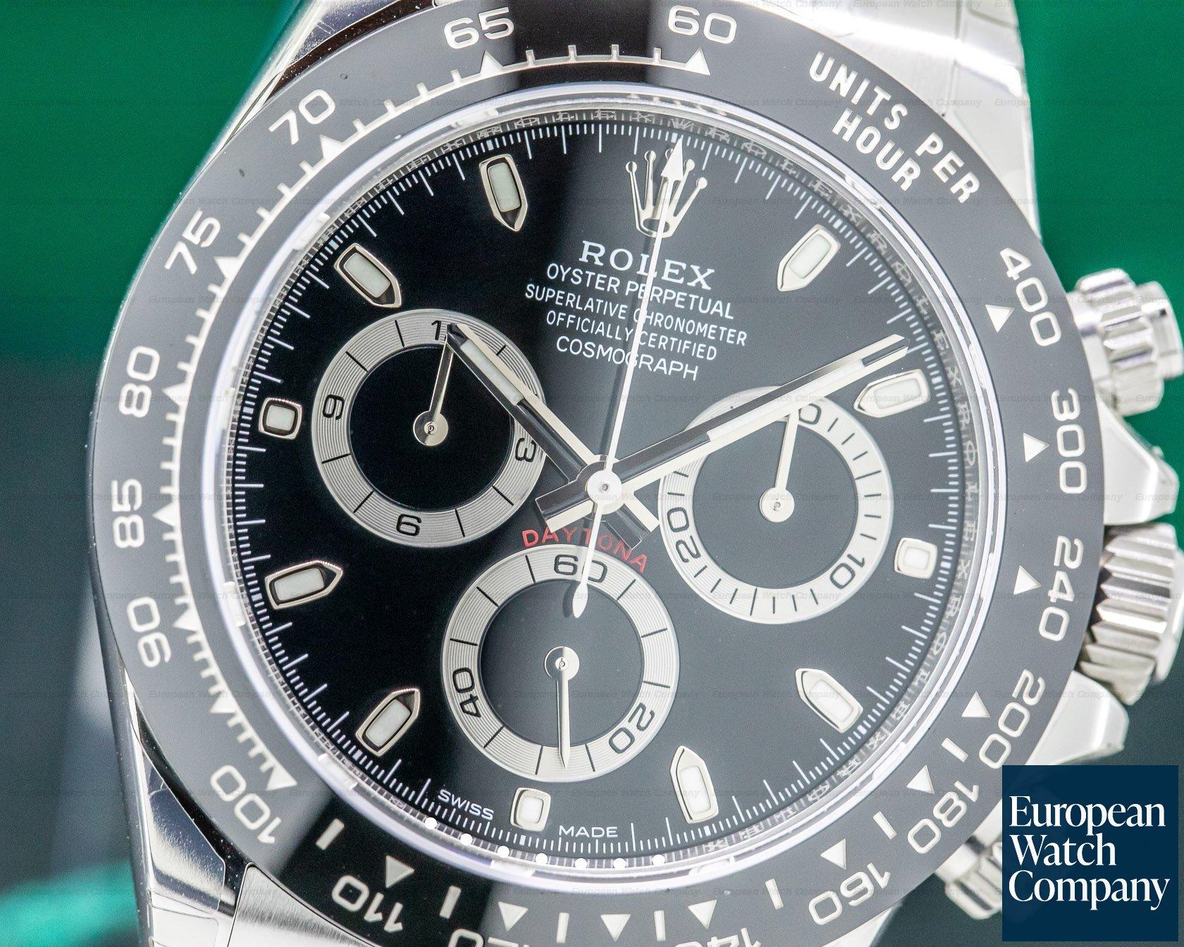Rolex 116500LN Daytona Ceramic Bezel SS / Black Dial UNWORN STICKERS