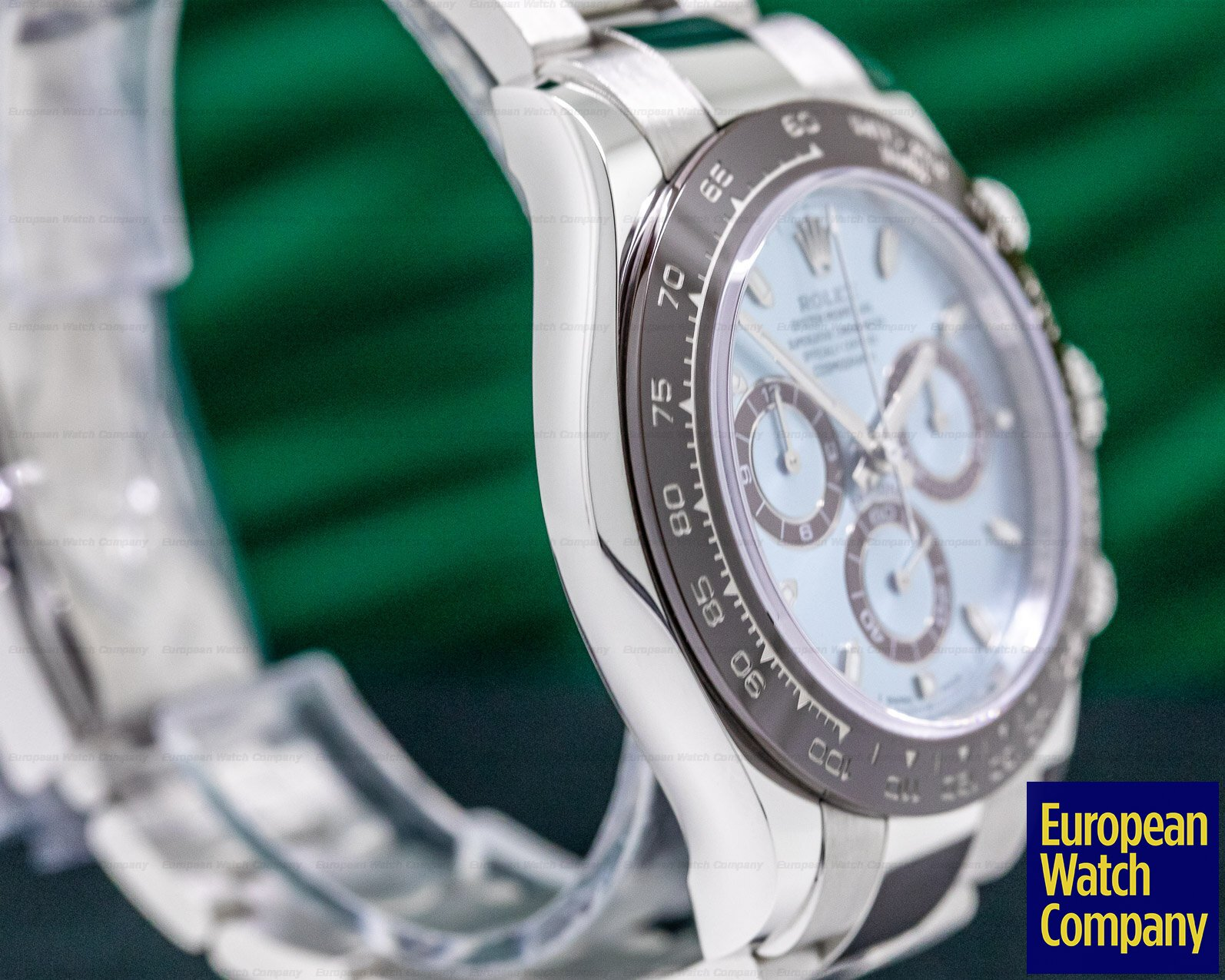 Rolex 116506 Daytona Platinum Glacier Blue / Brown Ceramic
