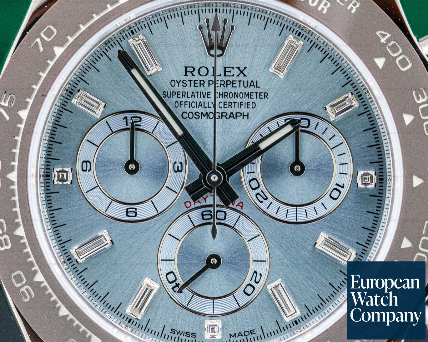 Rolex 116506 Daytona Platinum Glacier Blue / Brown Ceramic DIAMONDS