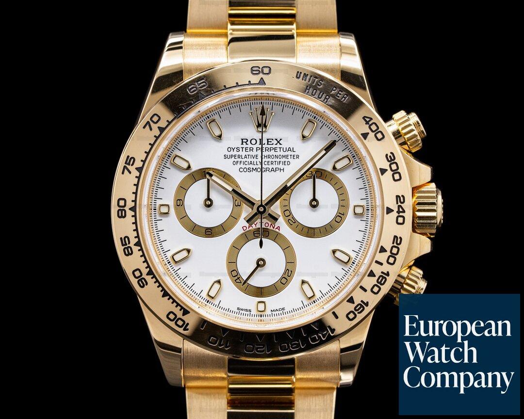 Rolex Daytona 116508 18k Yellow Gold / Bracelet White Dial 2019 Ref. 116508