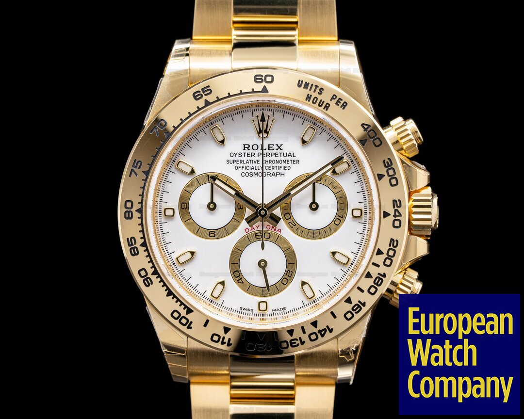 Rolex 116508 Daytona 116508 18k Yellow Gold / Bracelet White Dial UNWORN 2021