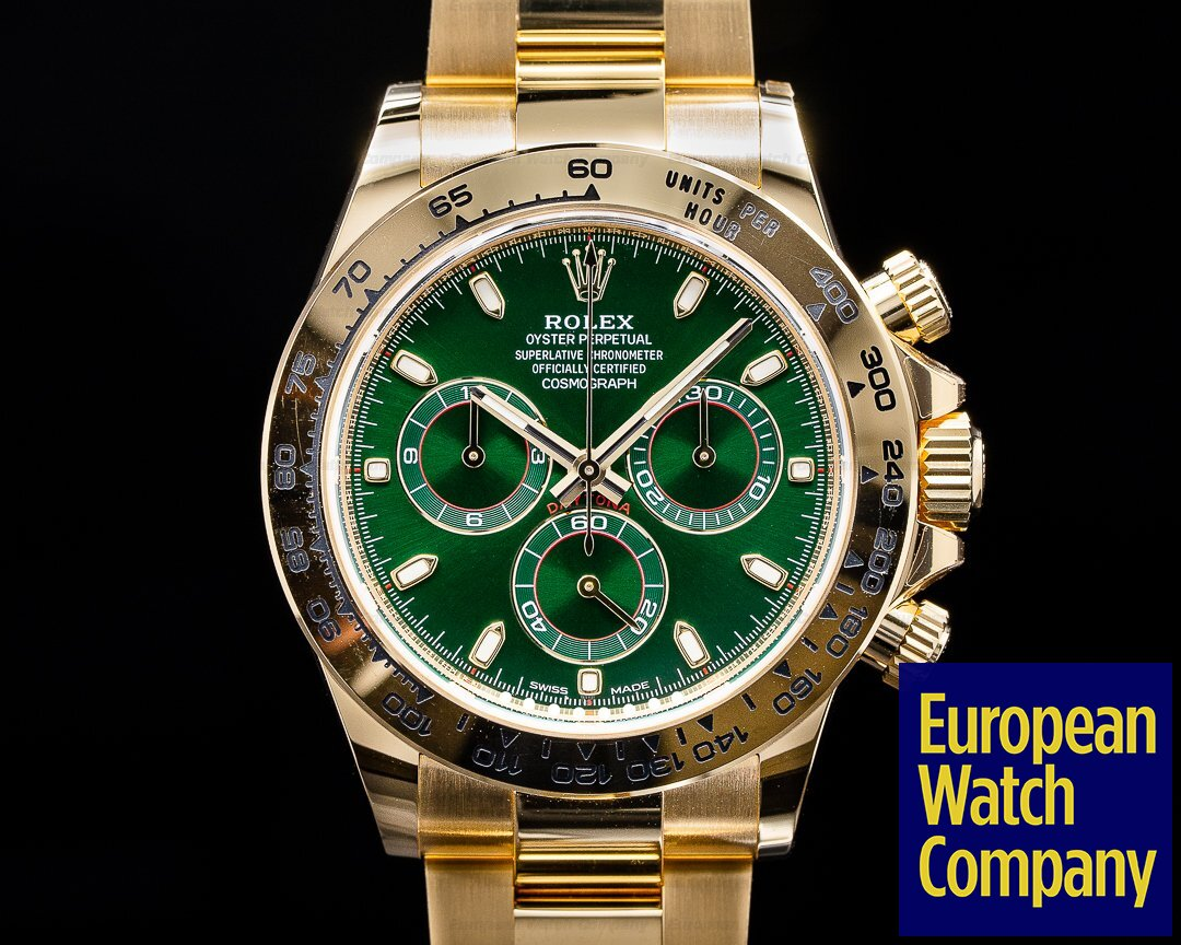 Rolex 116508 Daytona 116508 18k Yellow Gold / Green Dial 2020 UNWORN