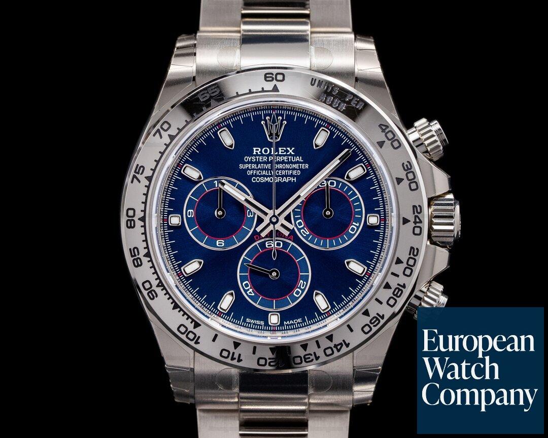 Rolex 116509 Daytona 116509 Blue Dial 18K White Gold STICKERS