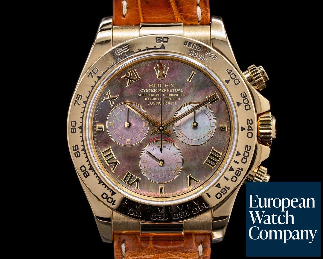 Rolex 116518 Daytona 116518 18K Yellow Gold / Tahitian MOP Dial