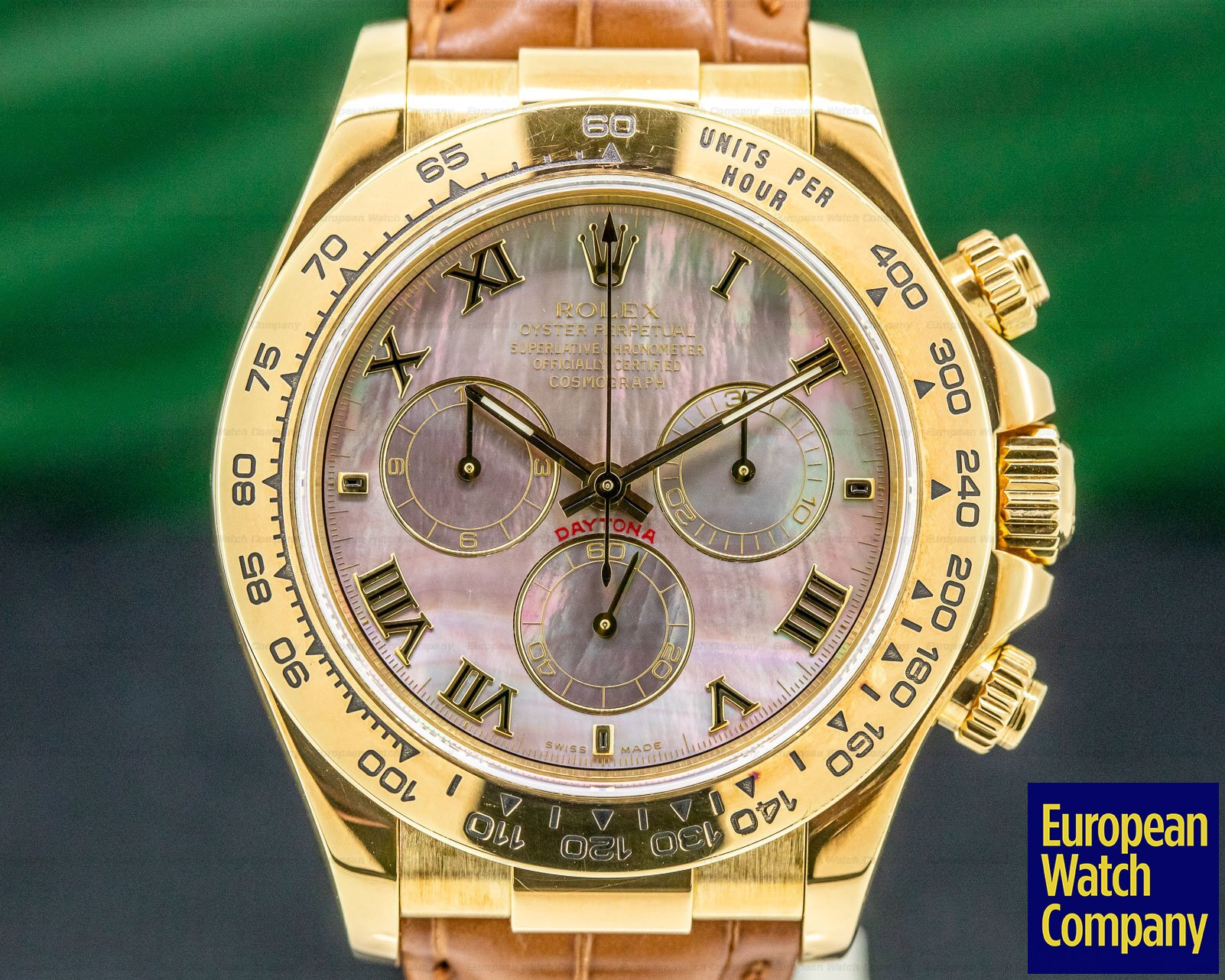 Rolex 116518 Daytona 18K Yellow Gold / Black MOP Dial