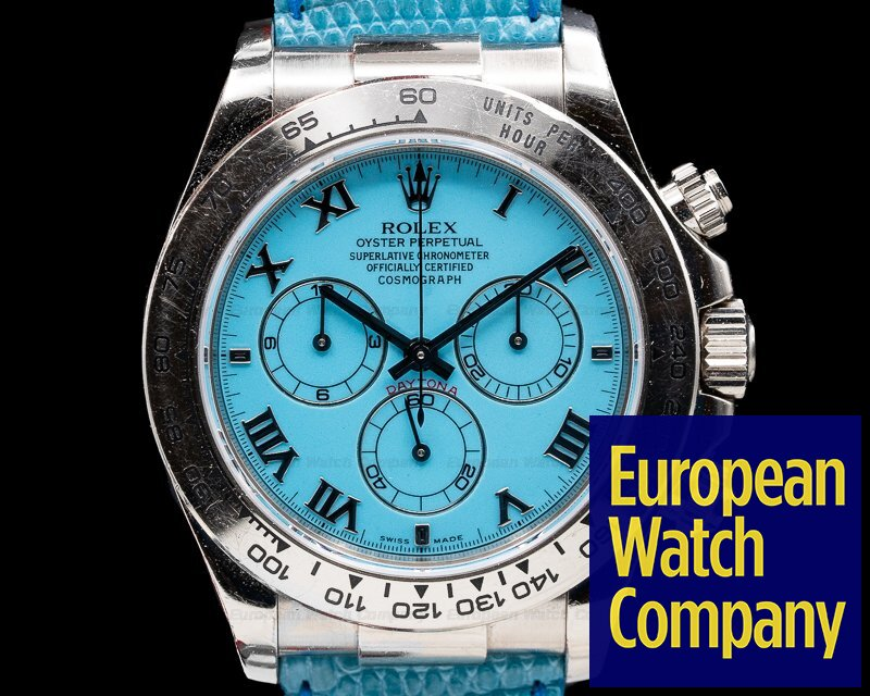 Rolex 116519 BEACH Daytona Beach 18K White Gold / Blue Dial FULL SET RARE