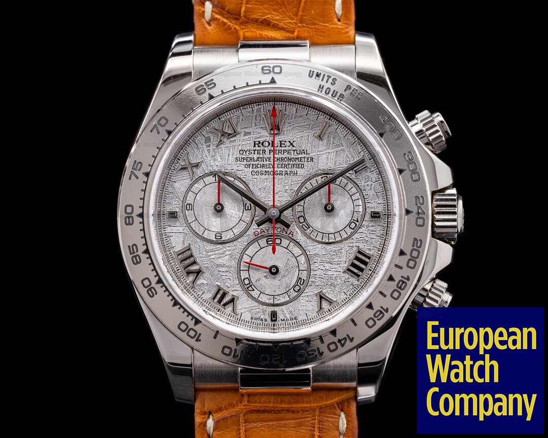 Rolex Daytona 116519 18K White Gold / Meteorite NOS Ref. 116519