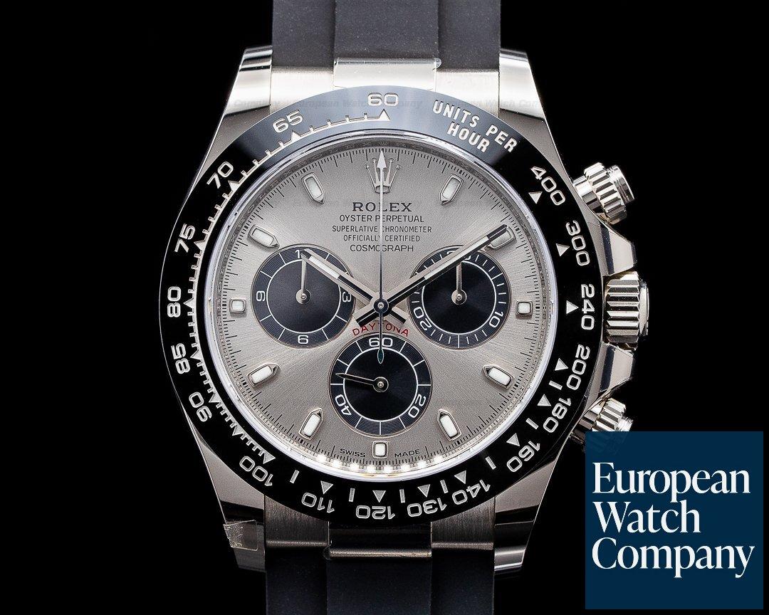 Rolex Daytona 116519 18K White Gold Ceramic Oysterflex Silver Dial 2020 Ref. 116519LN