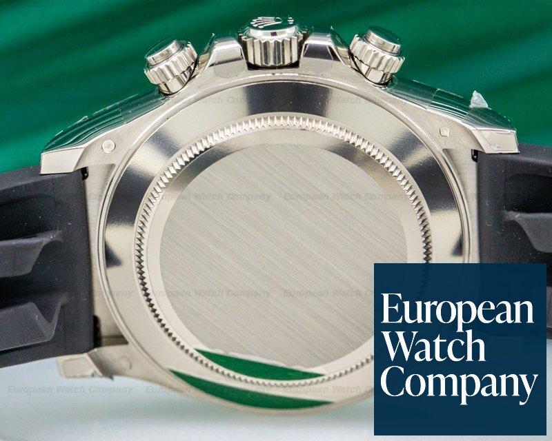 Rolex 116519LN Daytona 18K White Gold Ceramic Oysterflex Silver Dial UNWORN