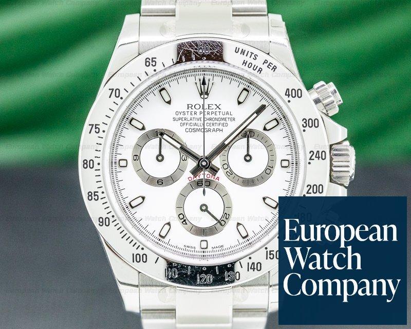 Rolex 116520 Daytona 116520 White Dial SS FULL SET STICKERS