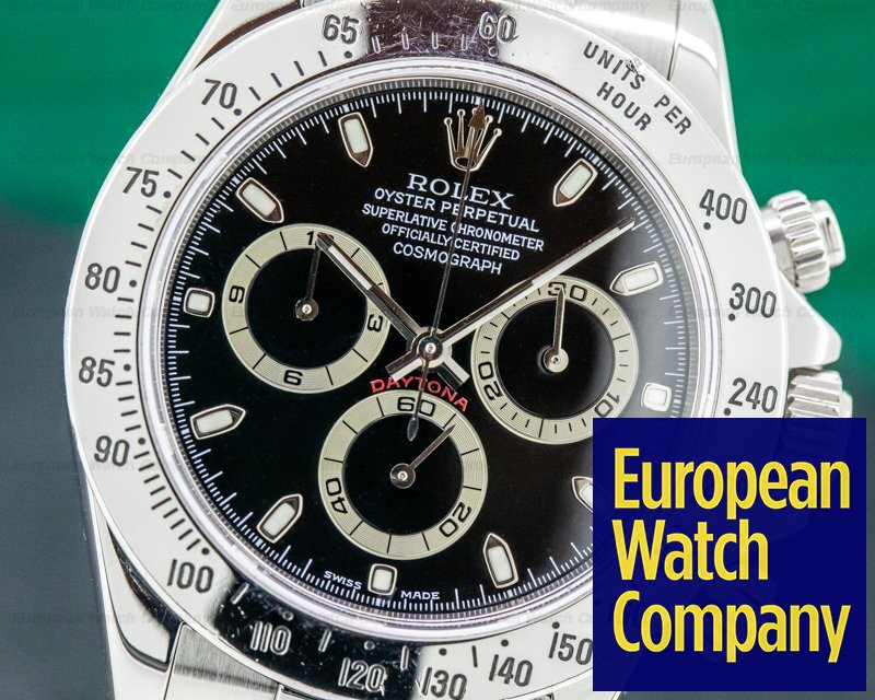 Rolex 116520 Daytona Black Dial SS FULL SET