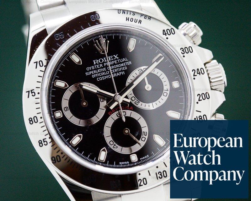 Rolex 116520 Daytona Black Dial SS UNWORN COMPLETE