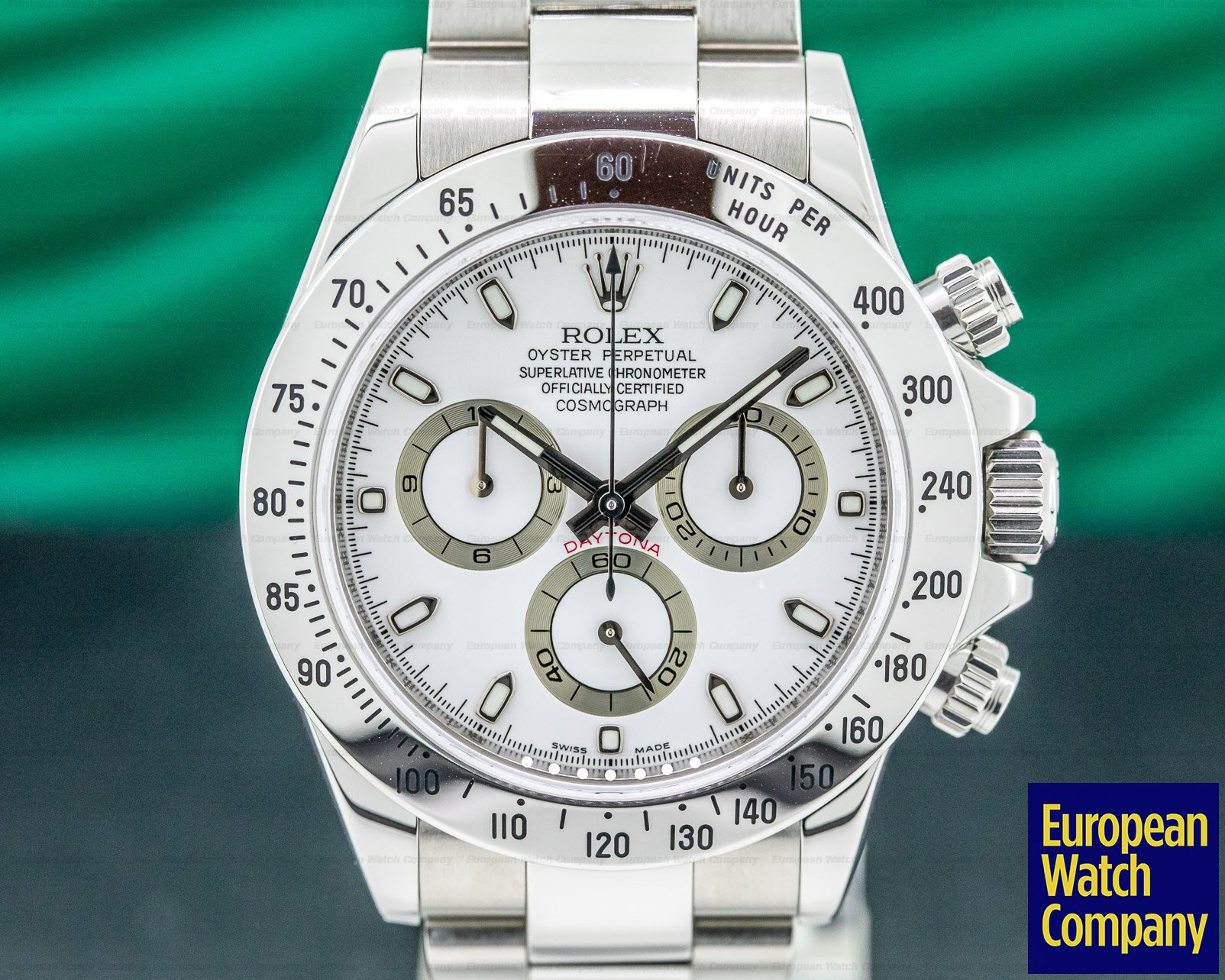 Rolex 116520 Daytona White Dial SS / SS FULL SET PERFECT