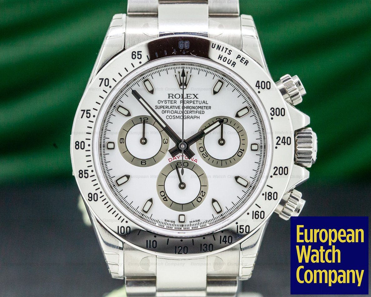 Rolex 116520 Daytona White Dial SS / SS NEW OLD STOCK FULLY STICKERED