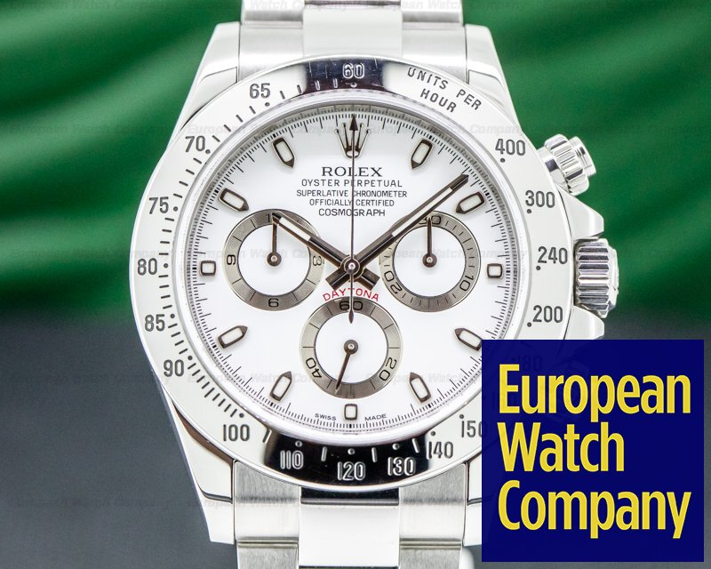Rolex 116520 Daytona White Dial SS FULL SET