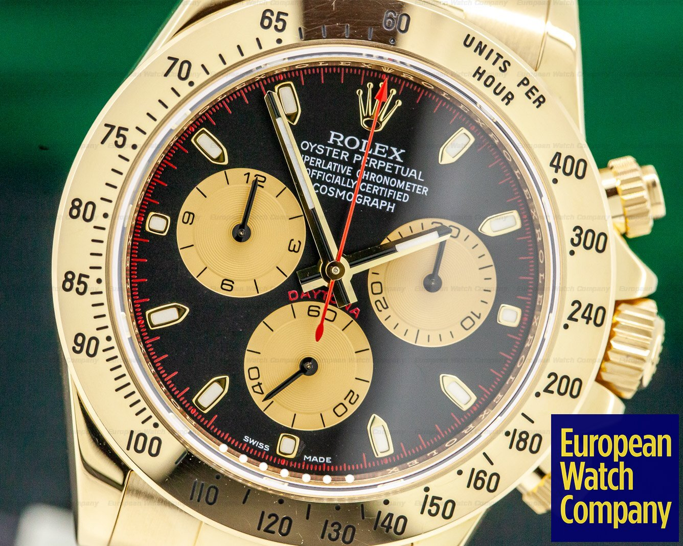 Rolex 116528 Daytona 18K Yellow Gold / Black Dial