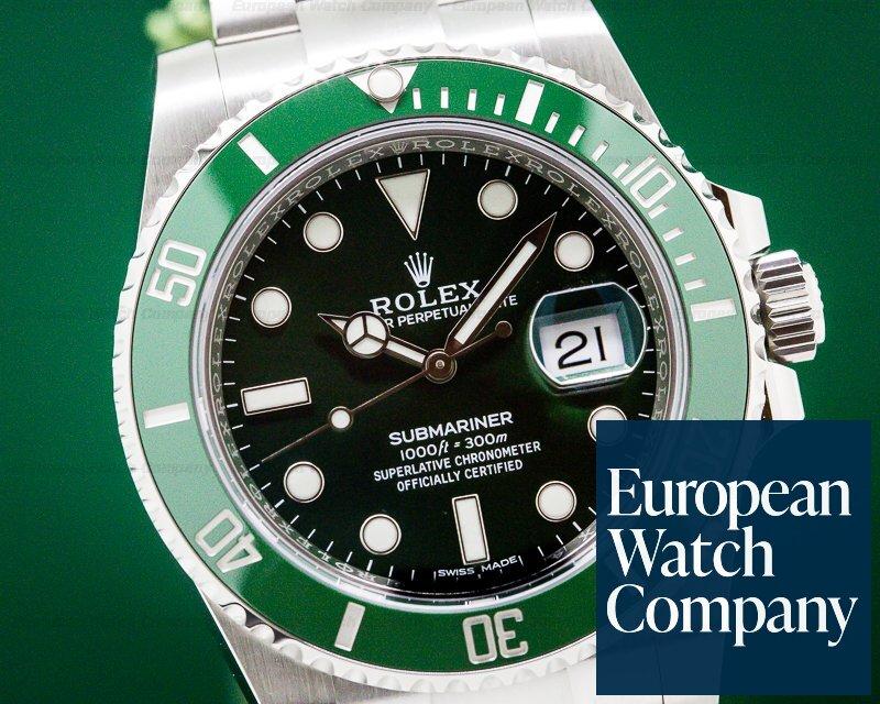 Rolex 116610LV Submariner Green Ceramic Bezel Green Dial SS UNWORN