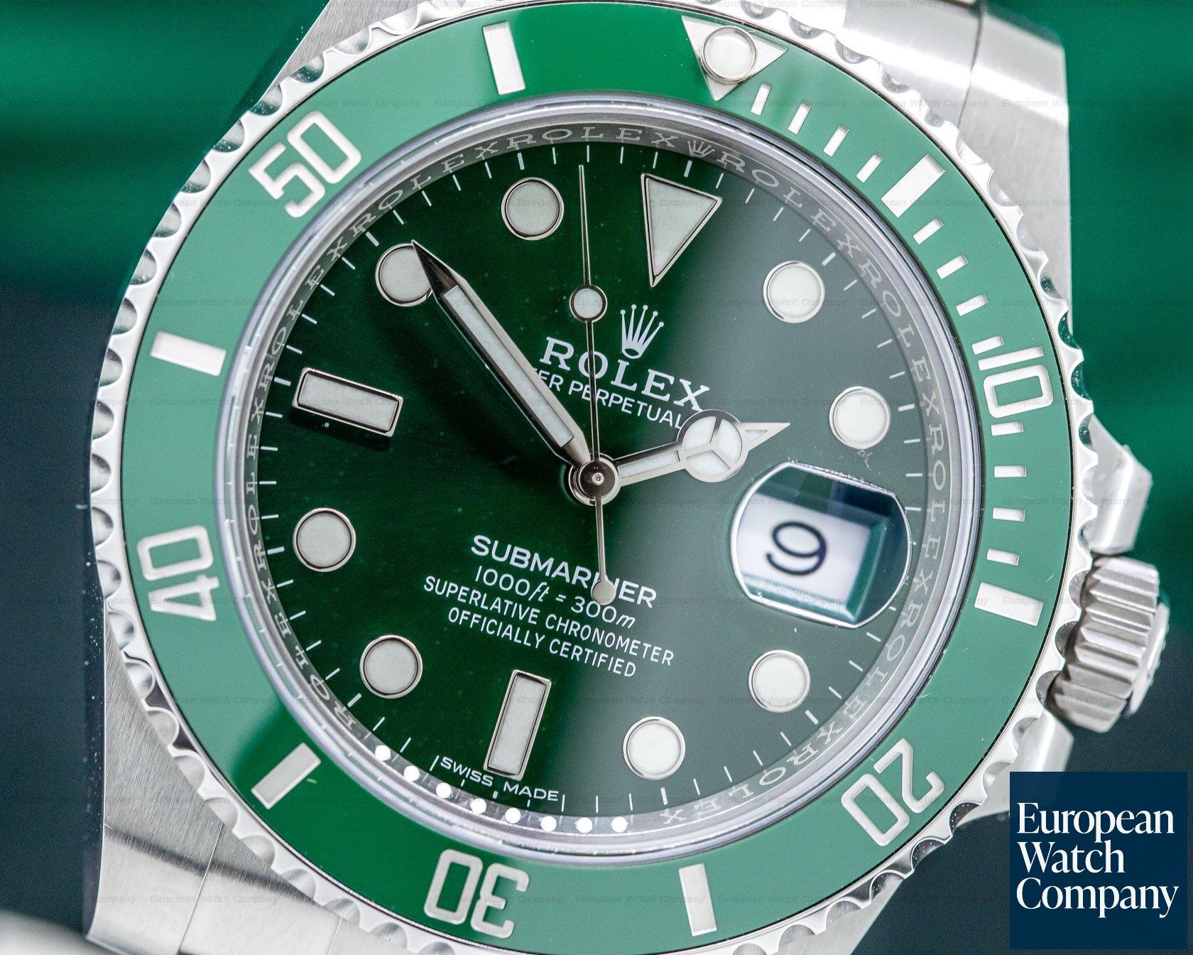 32465) Rolex 116610LV Submariner Green Ceramic Bezel Green