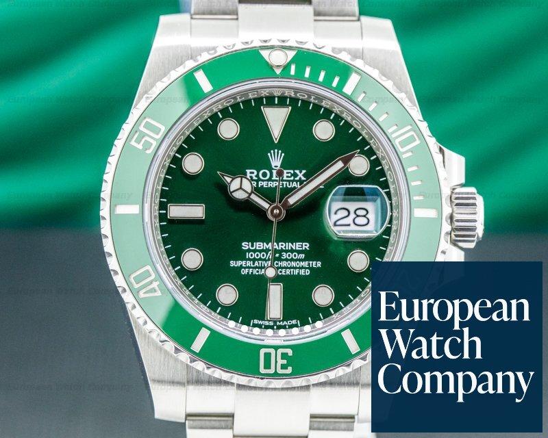 """Rolex 116610LV Submariner """"Hulk"""" Green Ceramic Bezel Green Dial SS 2019"""