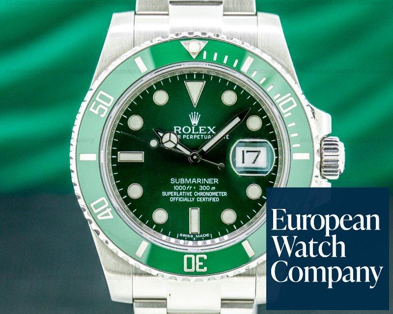 Rolex 116610V Submariner Green Ceramic HULK 116610V Bezel Green Dial SS