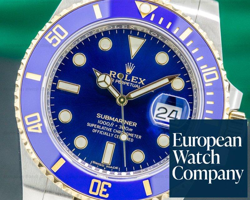 Rolex 116613LB Submariner 116613LB Ceramic Blue Dial 18K / SS 2020 UNWORN