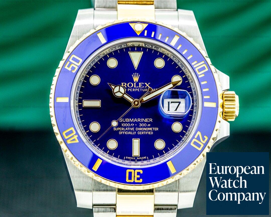 Rolex Submariner 116613LB Ceramic Blue Dial 18K / SS Ref. 116613LB