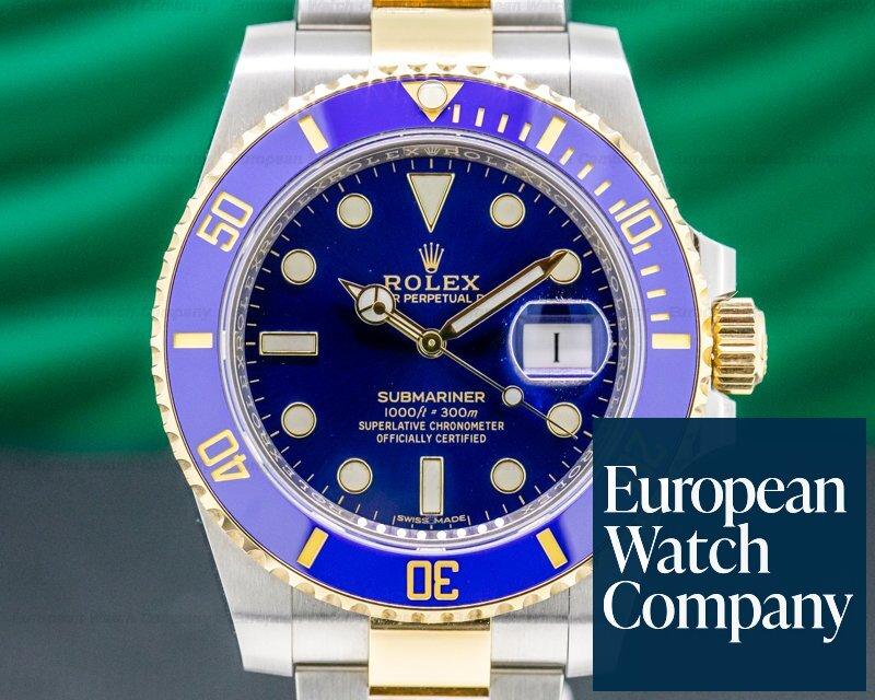 Rolex 116613LB Submariner 116613LB Ceramic Blue Dial 18K / SS UNWORN