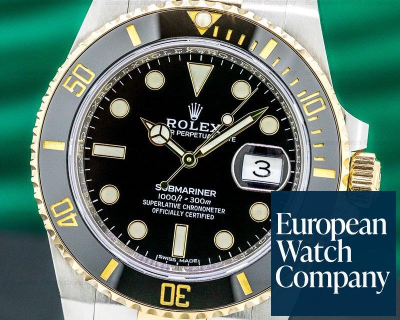 Rolex 116613LN Submariner Ceramic Black Dial 18K / SS 2019