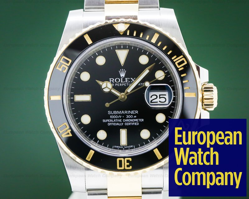 Rolex 116613LN Submariner Ceramic Black Dial 18K / SS