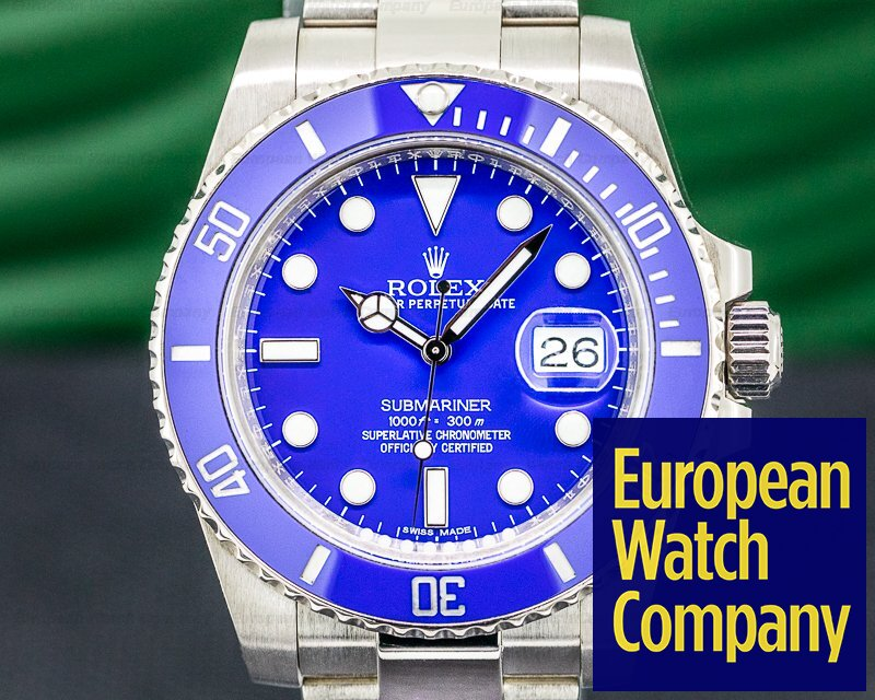 Rolex 116619LB Submariner 116619LB 18K White Gold Blue Dial