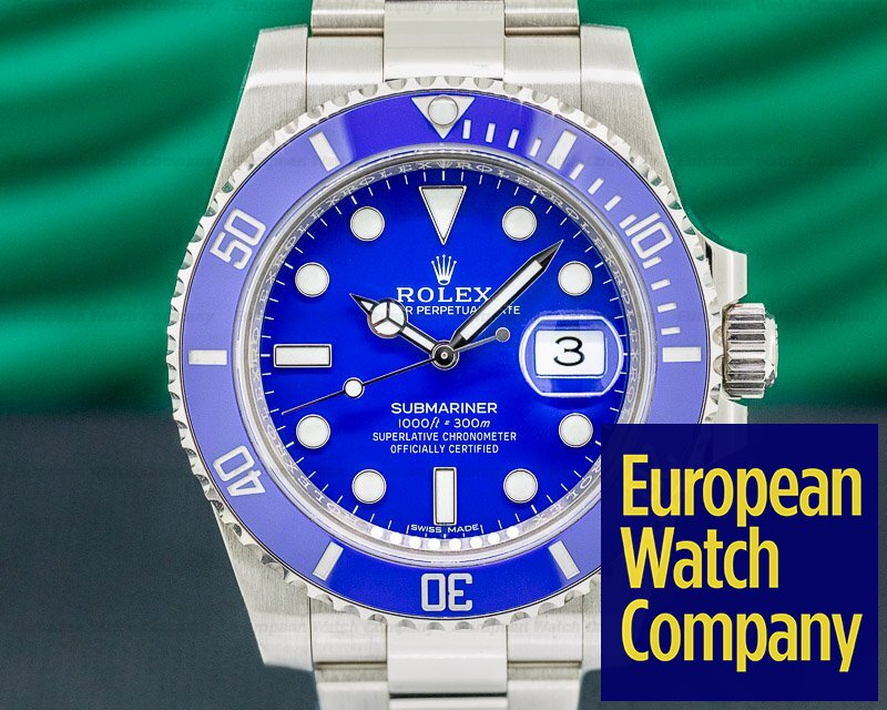 Rolex 116619LB Submariner Date 116619LB 18K White Gold Blue Dial DISCONTINUED 2019