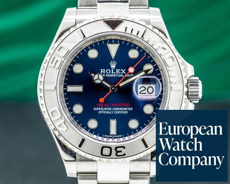 Rolex 116622 Yacht Master SS Blue Dial / Platinum Bezel 2019