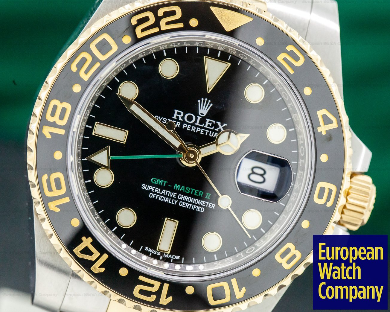 Rolex 116713LN GMT Master II SS / 18K Yellow Gold Black Dial DISCONTINUED
