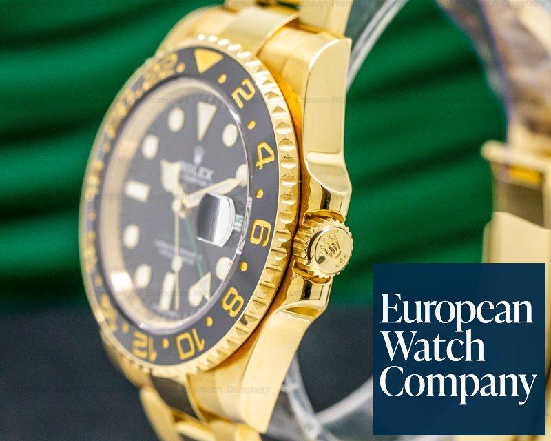 Rolex 116718 GMT Master II 116718 Black Dial 18K Yellow Gold / Bracelet
