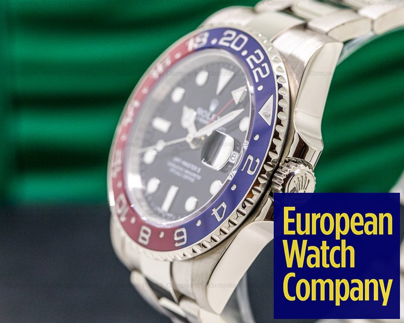 Rolex 116719BLRO GMT Master II 116719 Blue / Red 18K White Gold