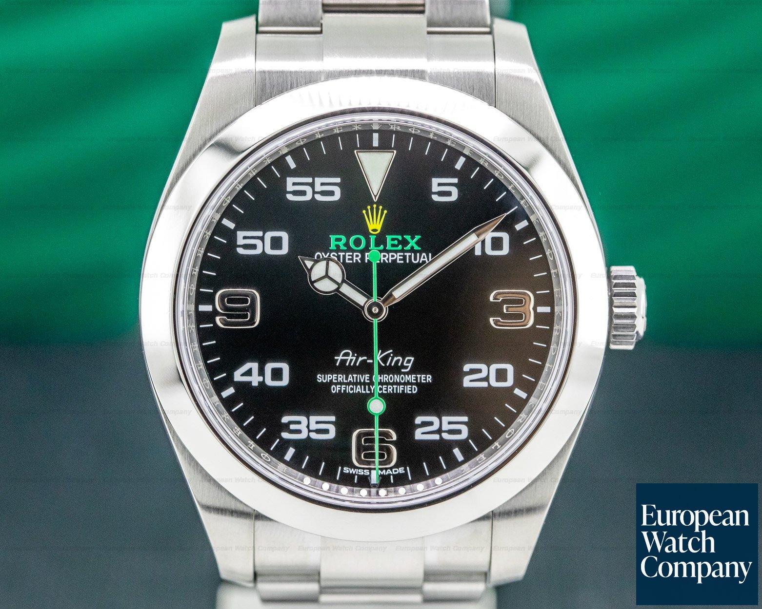 Rolex 116900 Air King Black Dial SS