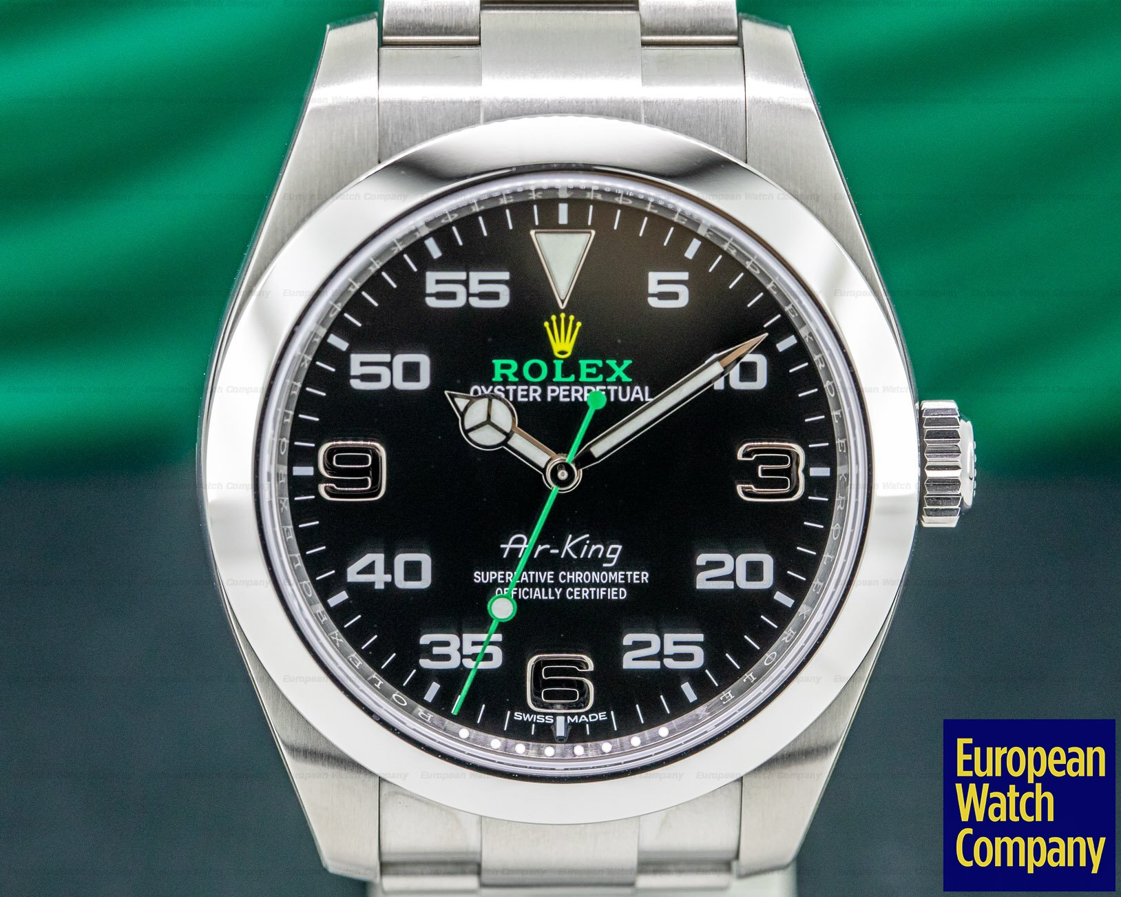 Rolex 116900 Air King Black Dial SS UNWORN