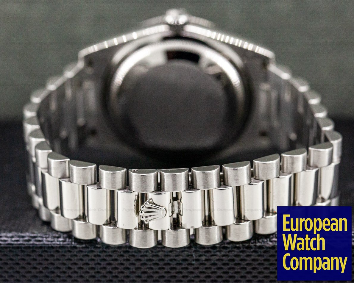 Rolex 118206 President Platinum Glacier Roman Dial