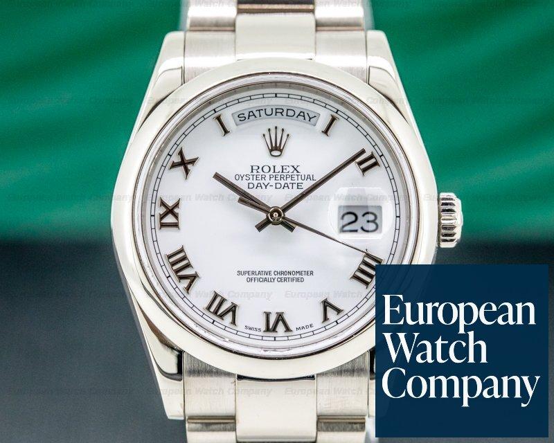 Rolex 118209 Day Date Oyster President White Roman 18K White Gold