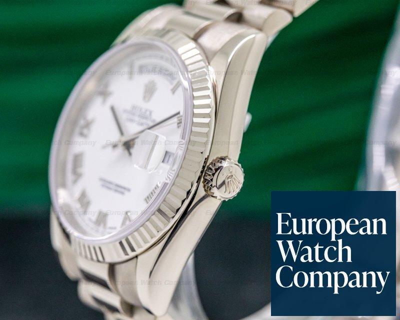 Rolex 118239 Day Date President White Roman 18K White Gold